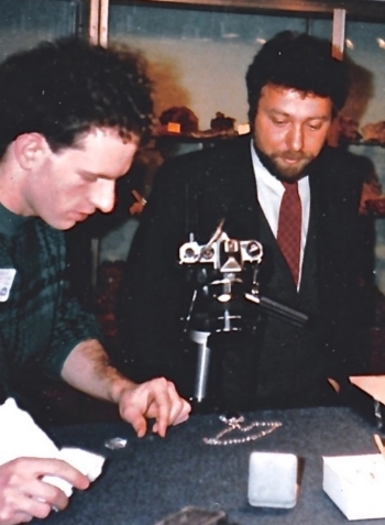 My Daddy examining The Hope Diamond back in the day