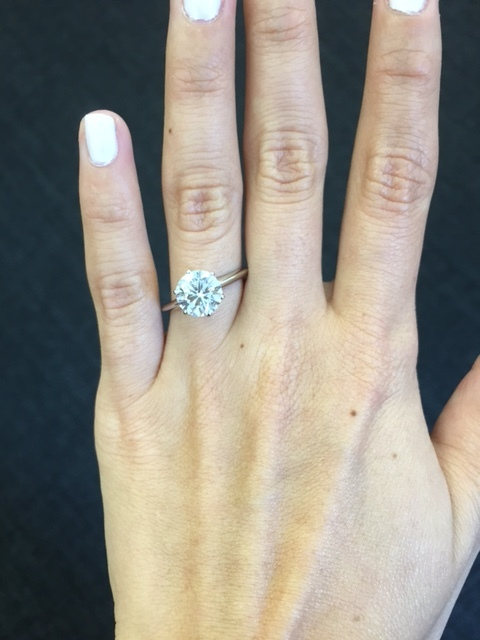 This an en example of a true solitaire ring