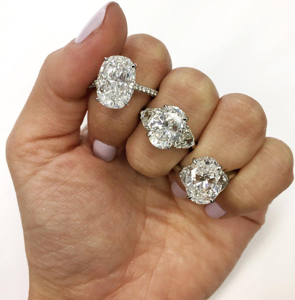 Oval Diamonds The Clear Cut
