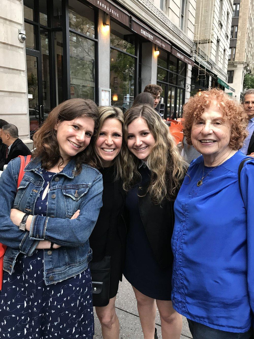 Left to right: Daniella's sister (Azza), mom (Jacqueline), Daniella, and  grandmother (Gabriella).