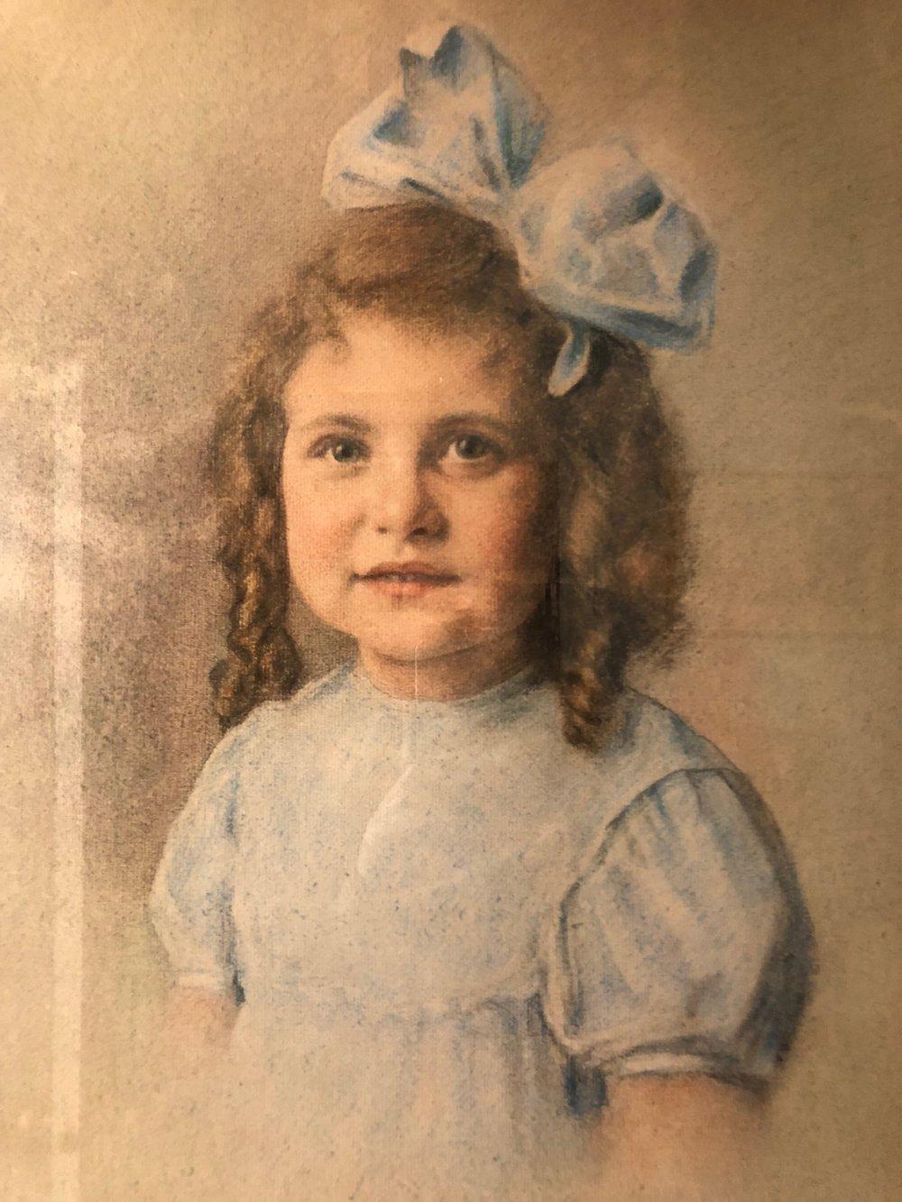 A portrait of their daughter Gabriella