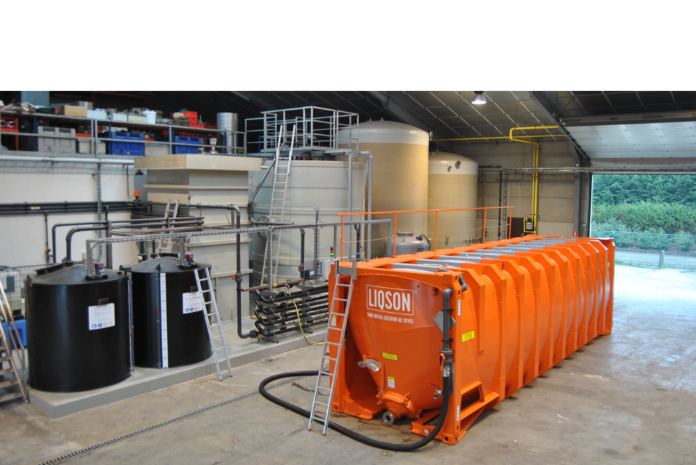 Huur vloeistofdichte container van 50.000L voor (drink) water