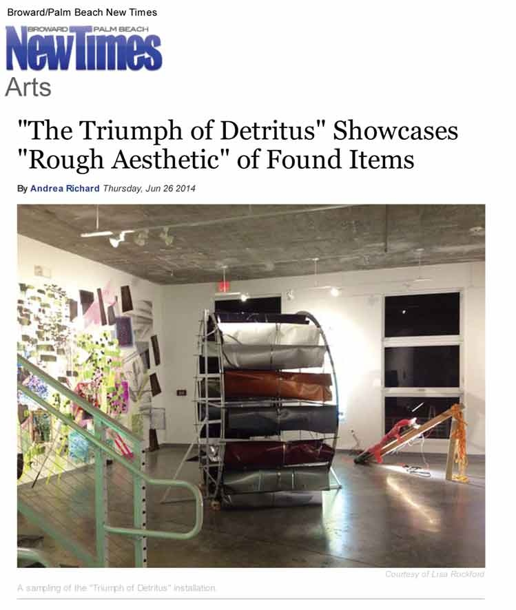 Group exhibition review - 2014, Broward-Palm Beach New Times