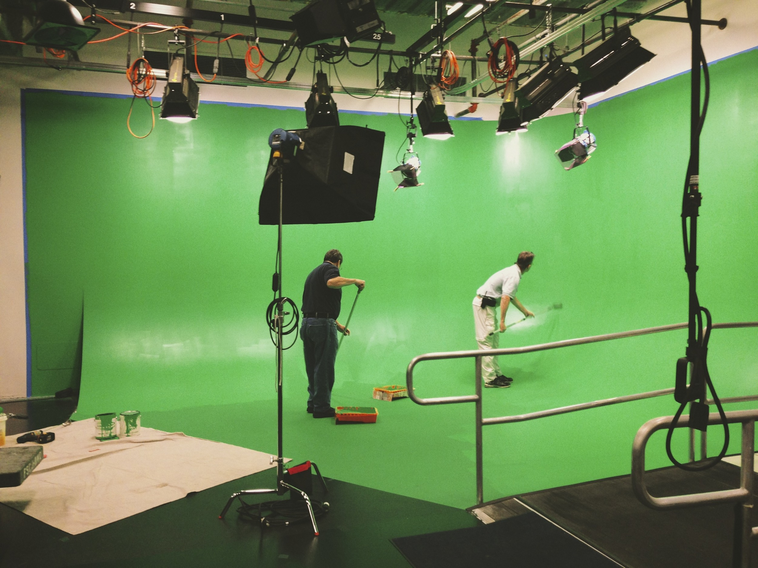green screen repainting