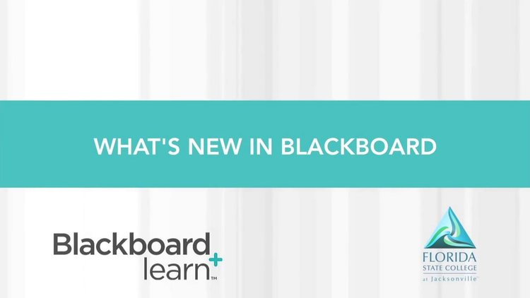 Video: What's New in Blackboard — Academic Technology