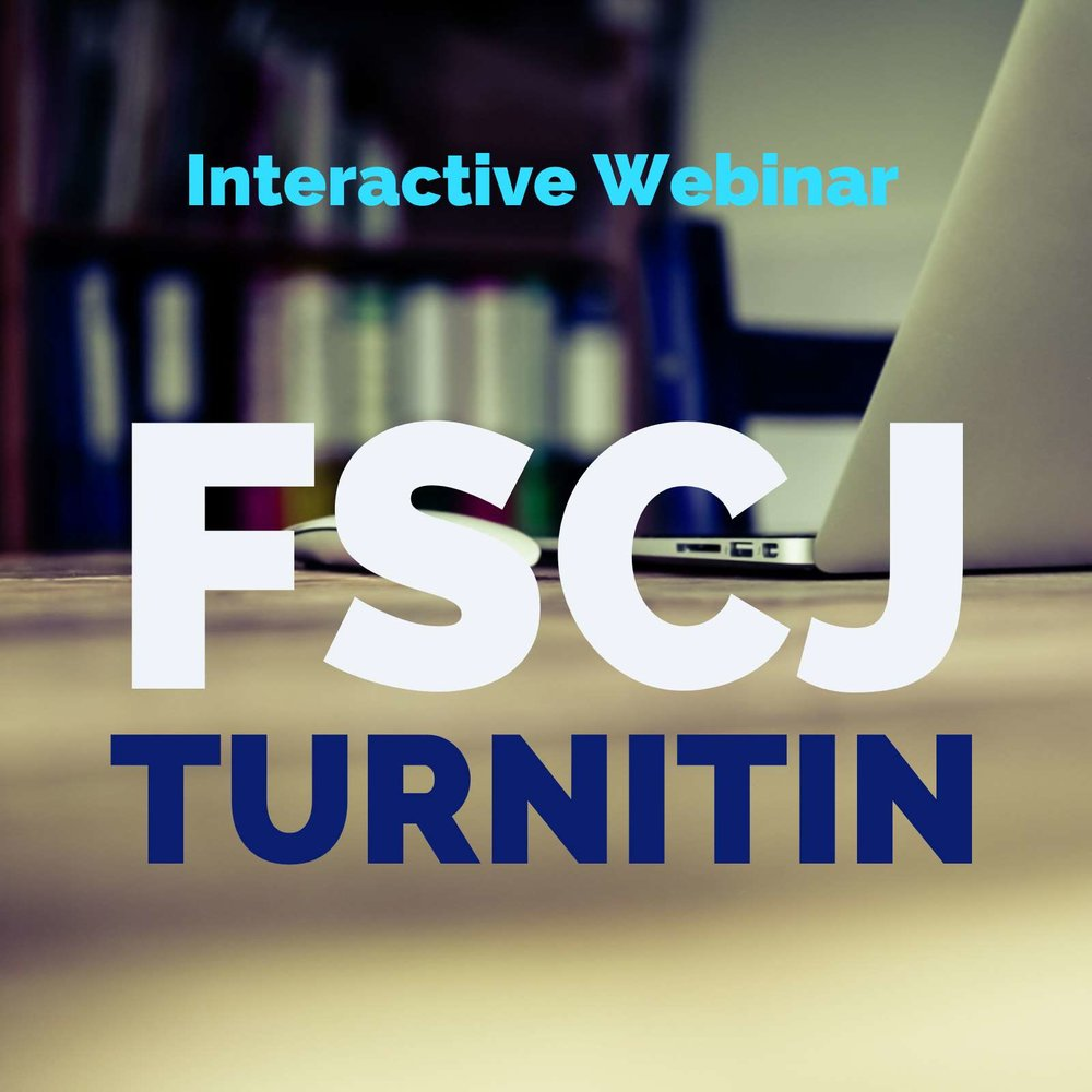 Join us February 9th at 10am for our Interactive Webinar to answer all your Turnitin.com questions.