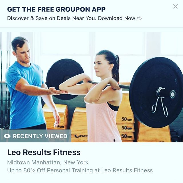 Hi everybody - this is my promotion for the HOLIDAY SEASON - TAKE ADVANTAGE OF IT NOW WHILE I HAVE A FEW SLOTS AVAILABLE - Go to Groupon.com and search for Leo results fitness. *valid for new clients only *regular clients will get their own discount code - starting next week  #leoresultsfitness#unionsquare#flatironfitness#nycfitness#cybermonday