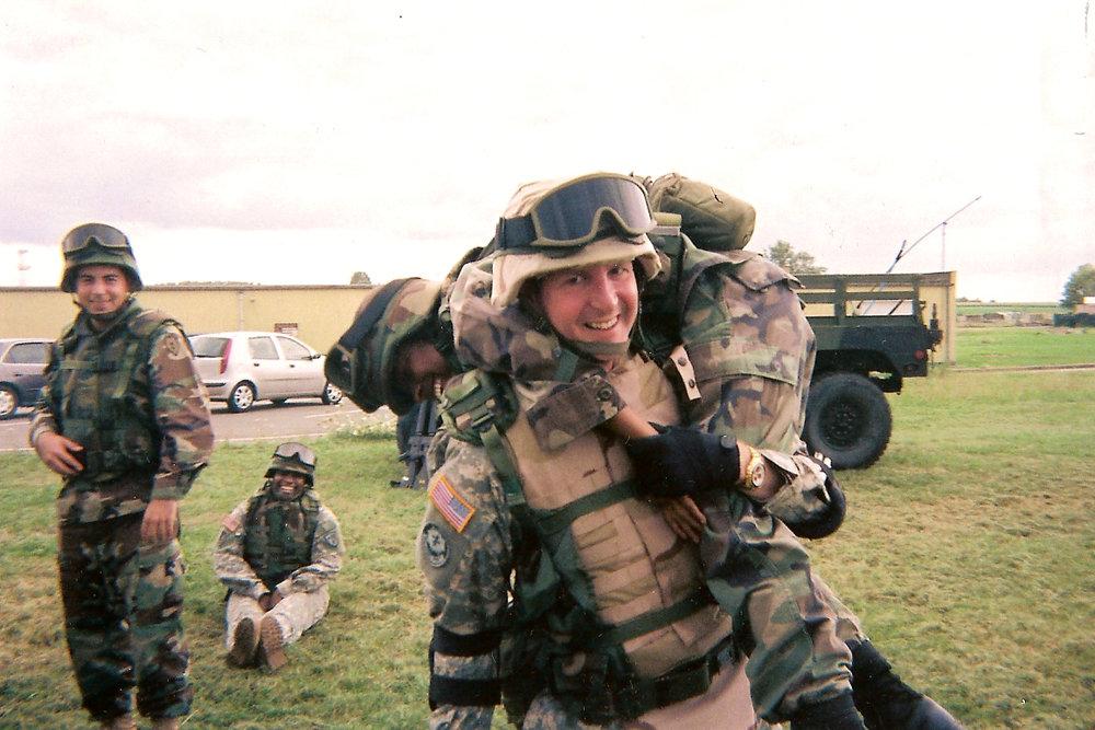 James mucking around in 2005 during pre-deployment training for Darfur, Sudan, Africa.