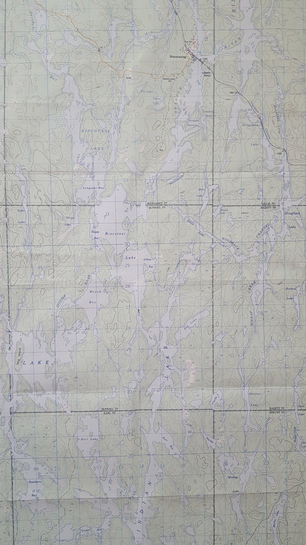 Biscotasing Map