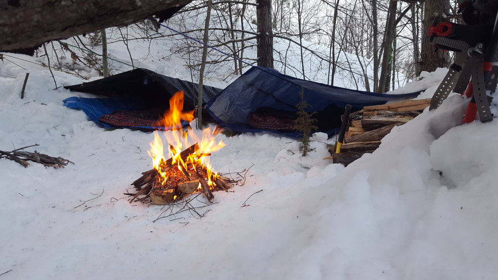 Our cold tent setup