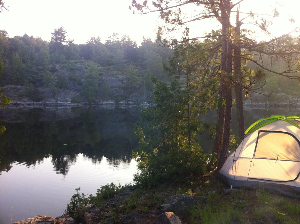 Our first campsite along the French River (North Channel)