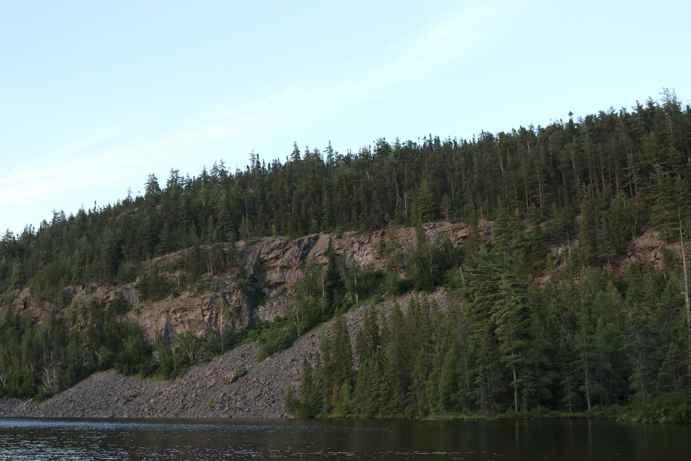 Cliff on Eagle Lake in Temagami