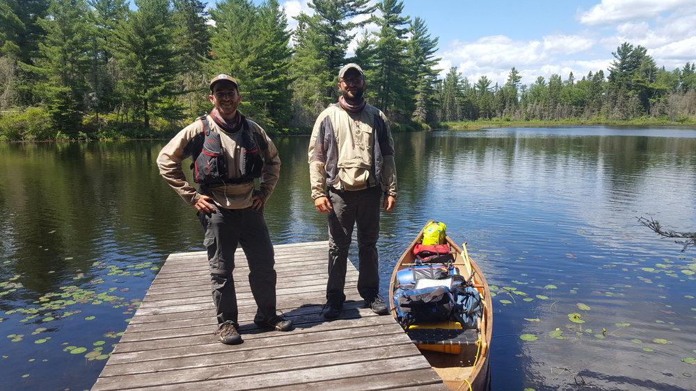Just a couple dudes after completing their adventure through Temagami
