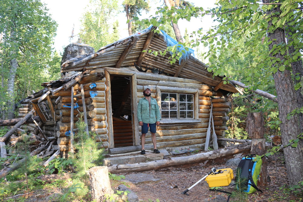 Wendell Beckwith's main cabin was in pretty rough shape - August 2017