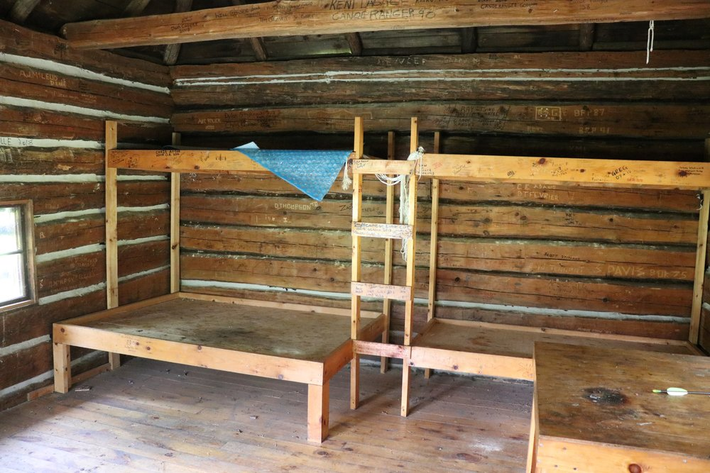 Inside the Highview Ranger Cabin in Algonquin Park