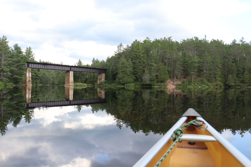 Old train bridge along the Petawawa River