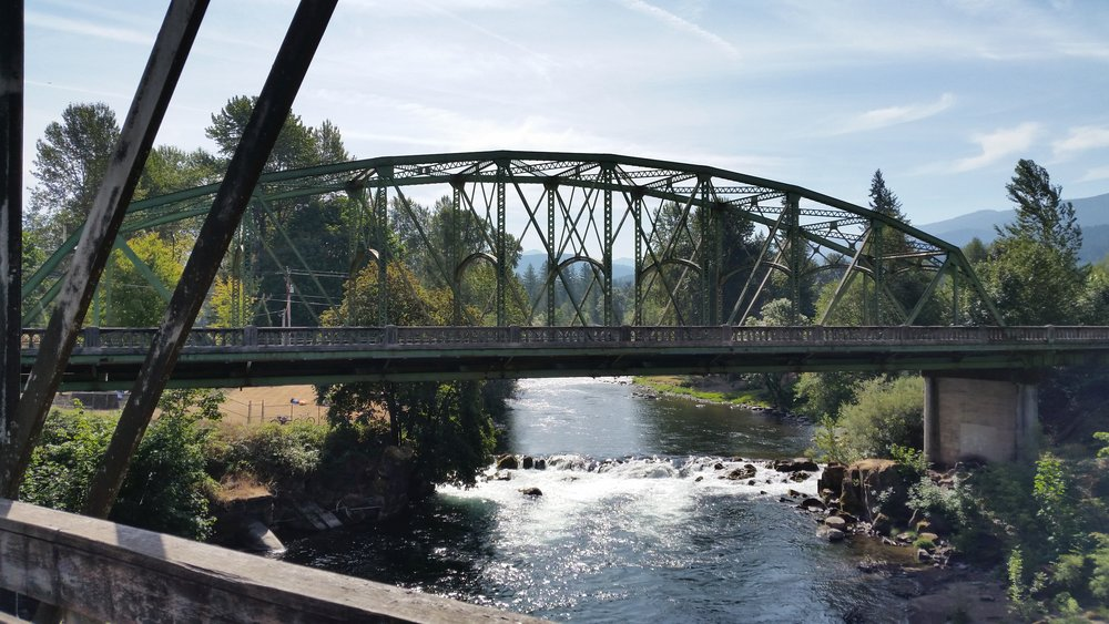 North Santiam River from the Mill City bridges