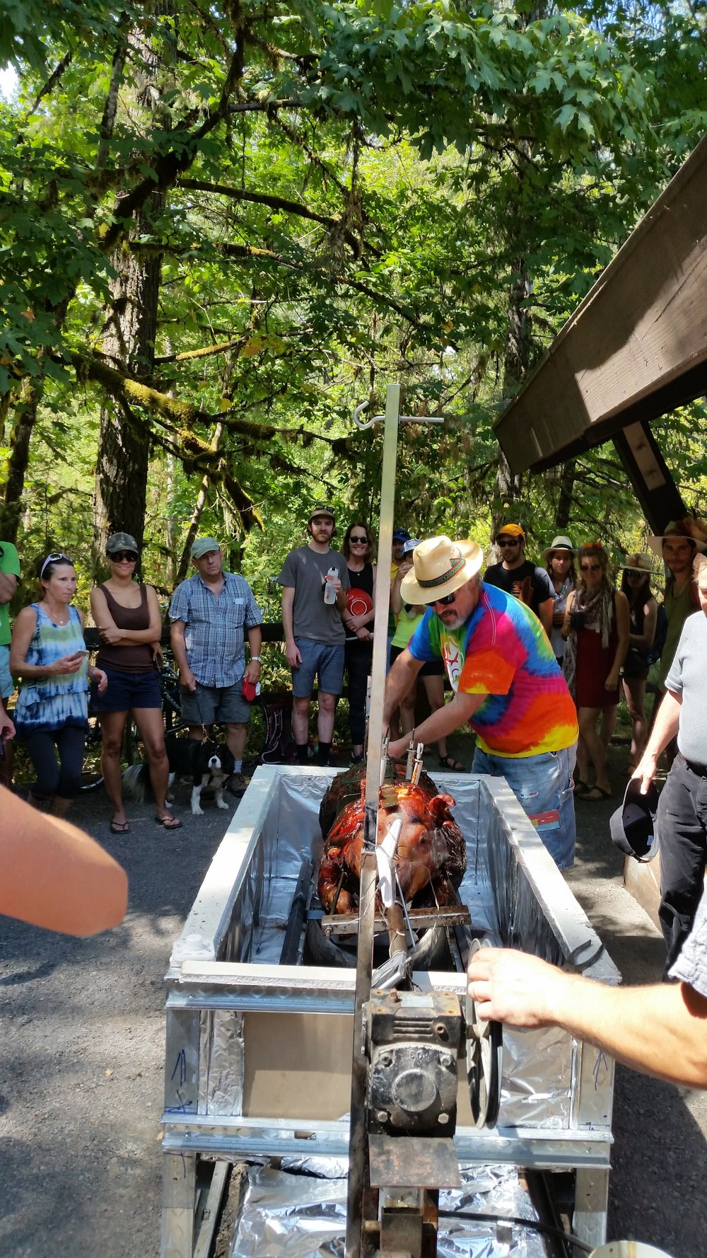 Pig Roast at Fisherman's Bend Campground