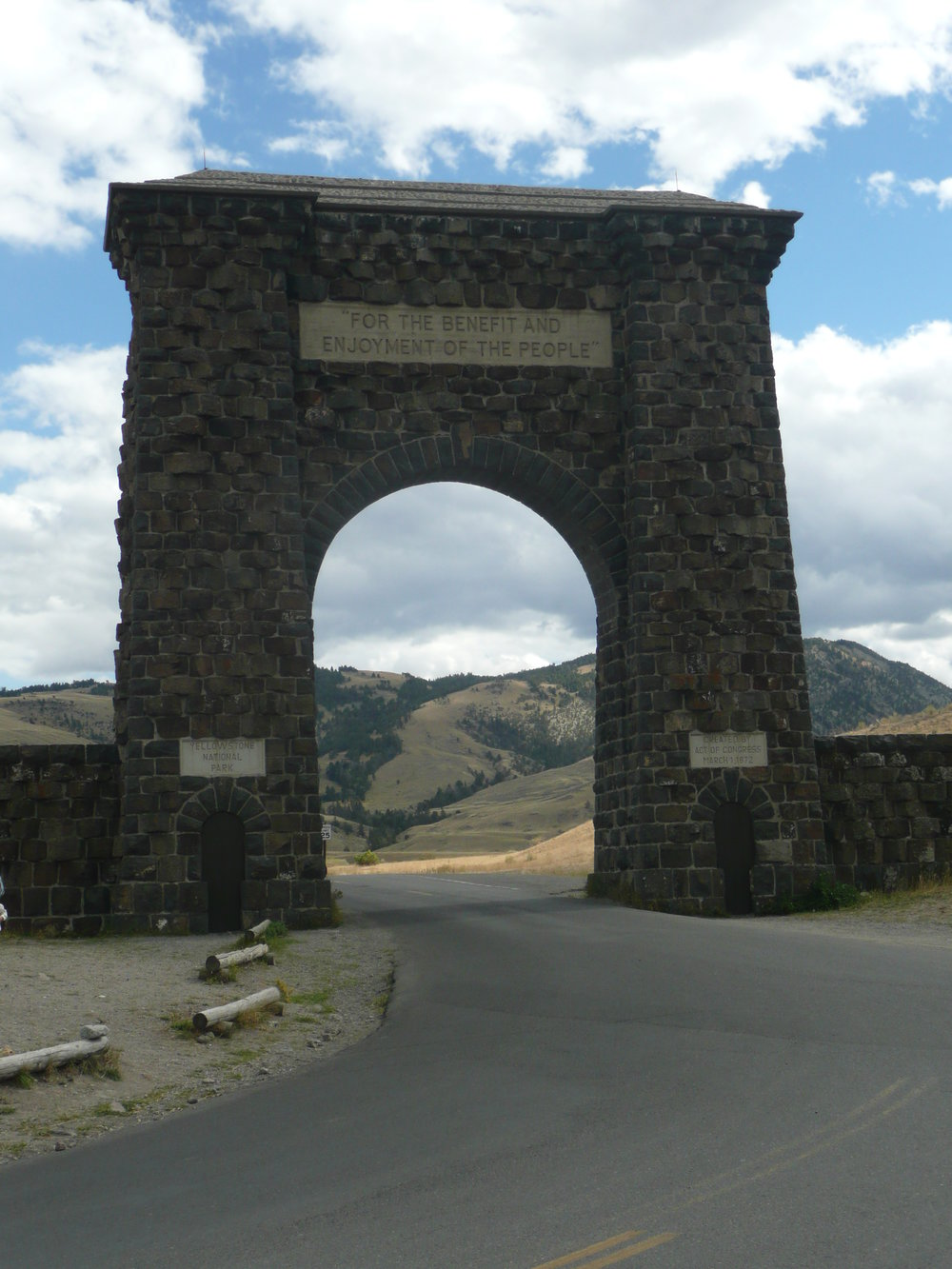 original, north entrance to Yellowstone National Park, our national's first
