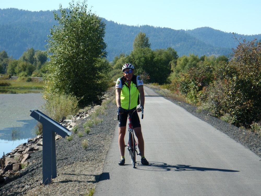 Bike path across the panhandle of Idaho