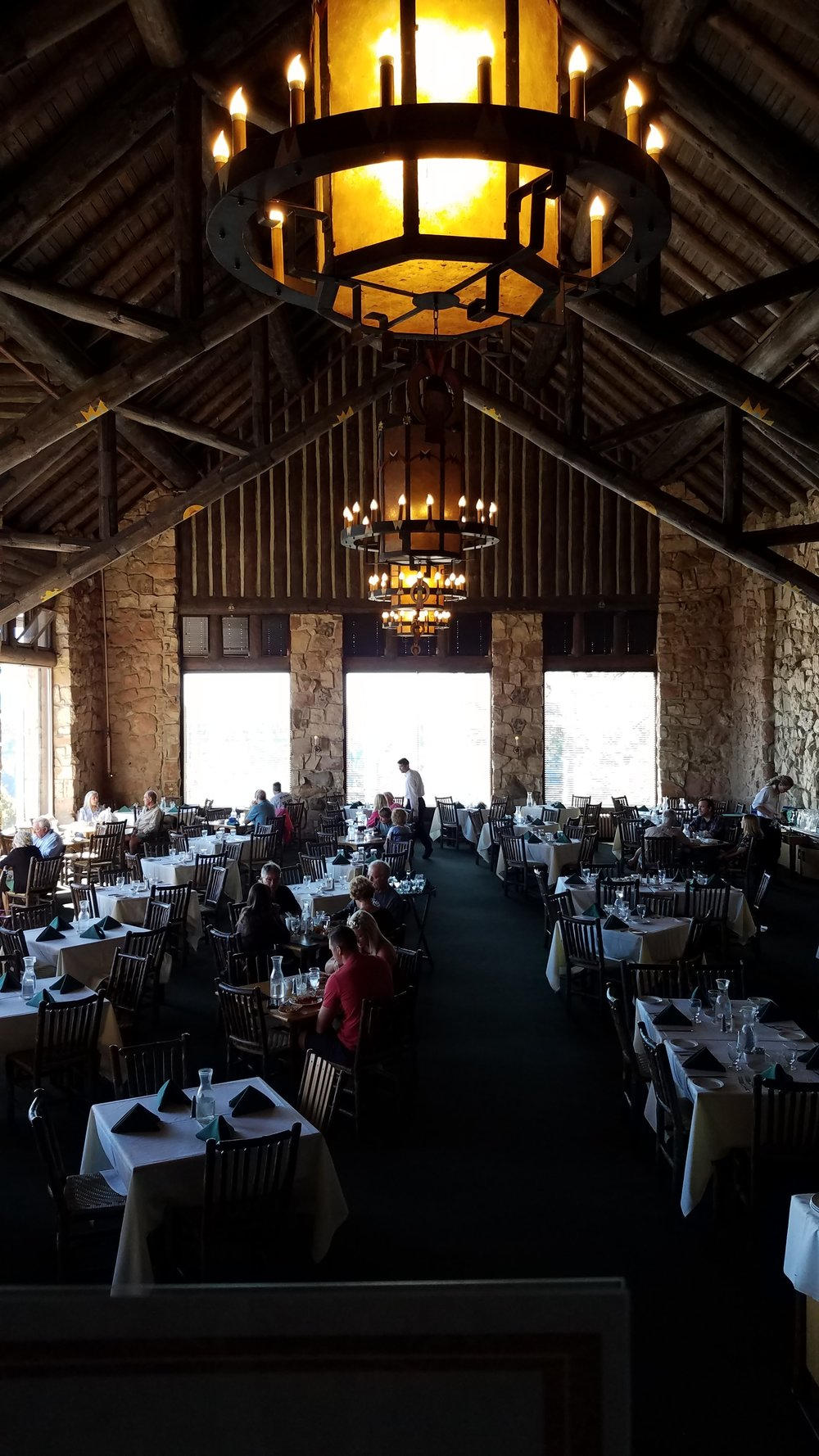 North Rim Lodge dining room, Grand Canyon National Park, AZ