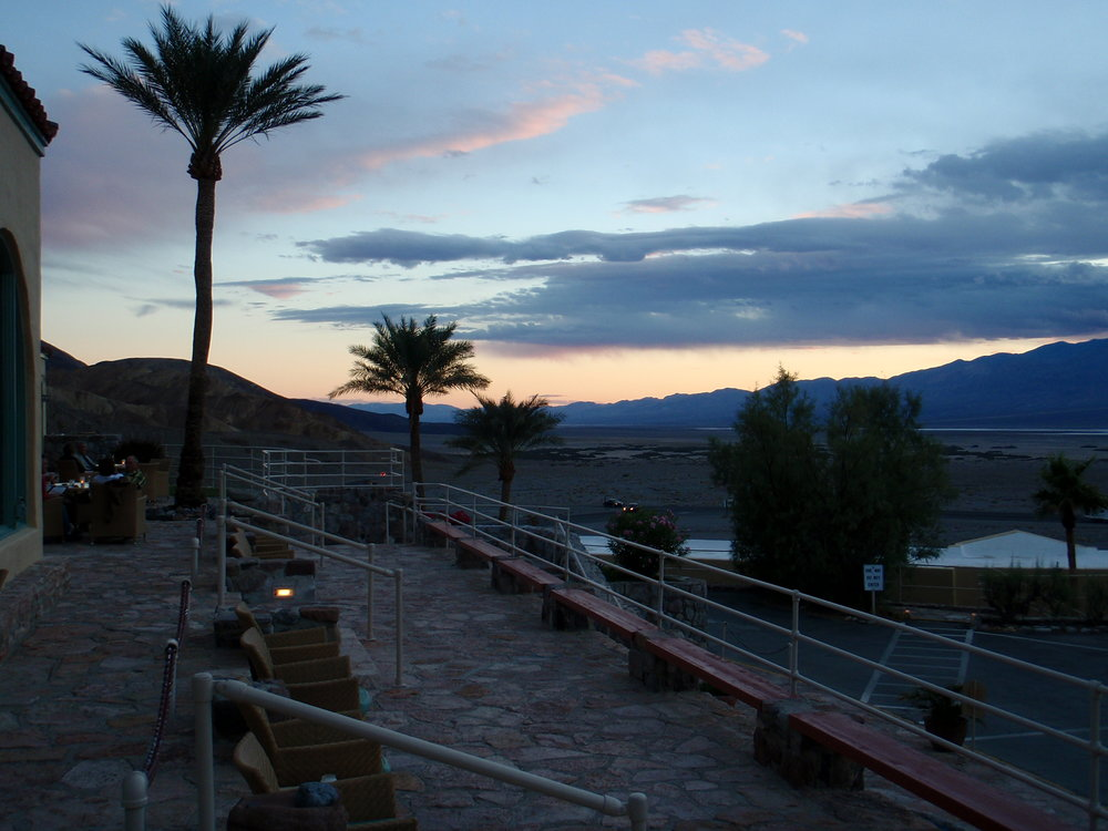 Patio at the Furnace Creek Inn, Death Valley National Park