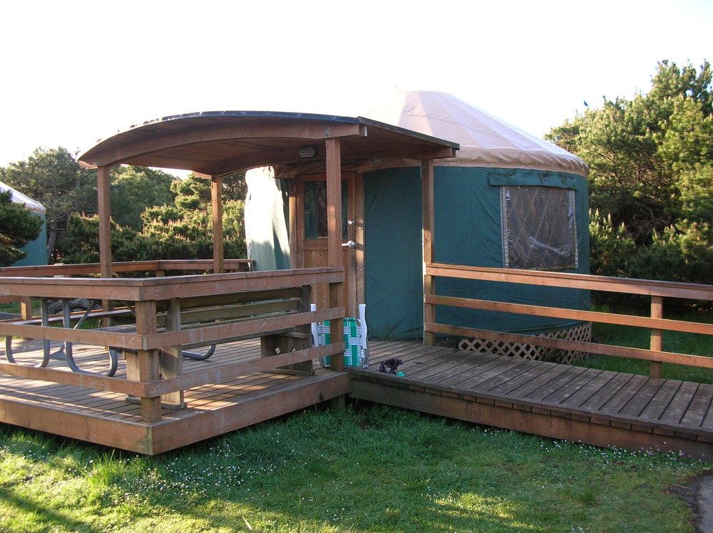 Yurt at Nehalem Bay State Park, OR