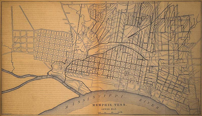 A map of some of the City's first sewers