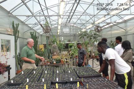 PEEP Botanic Gardens Tour & Workstudy 7/28/16