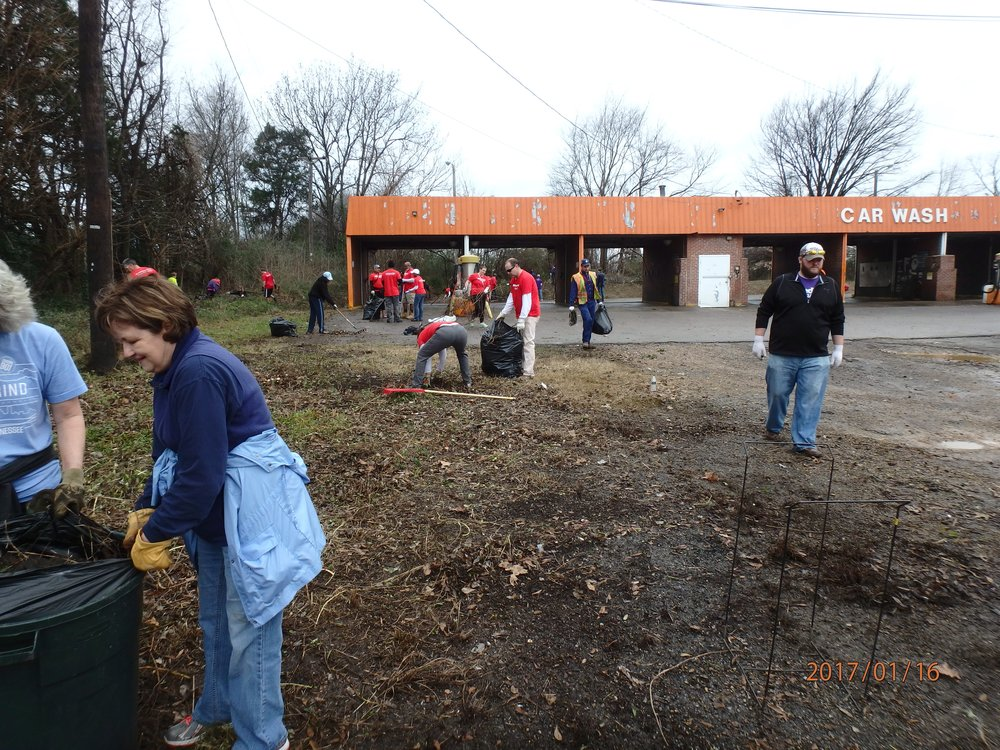 Orange Mound Day of Service Cleanup 1/16/17