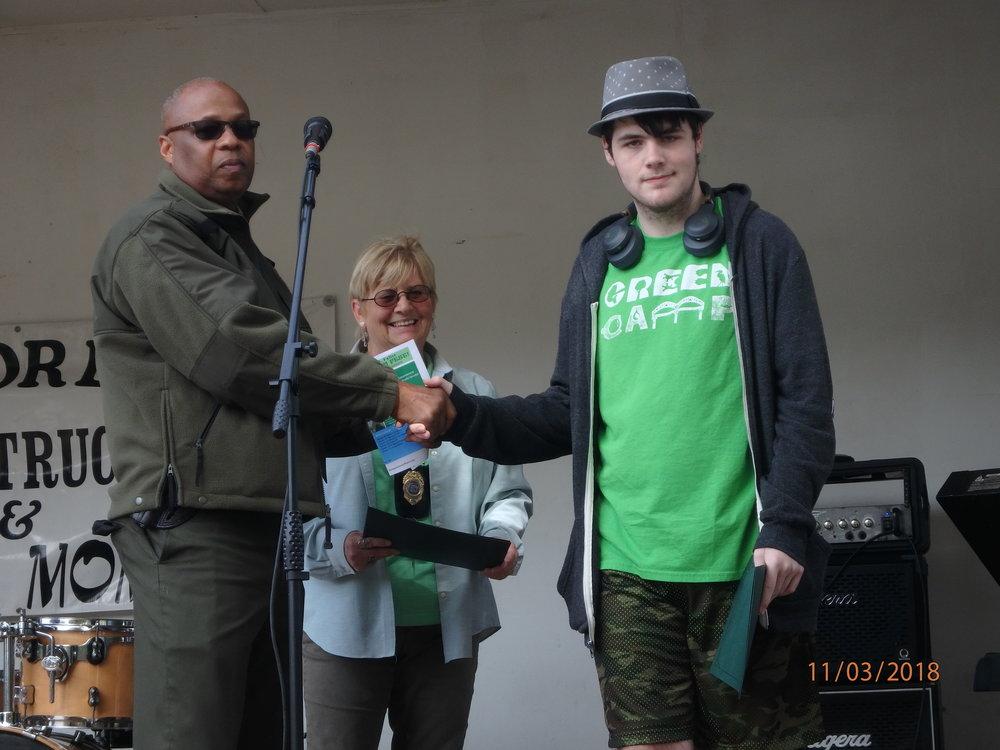 2018 GreenFest- Green Camper Bradley honored