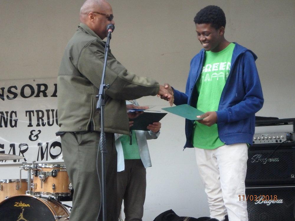 2018 GreenFest- Green Camper Gabriel honored