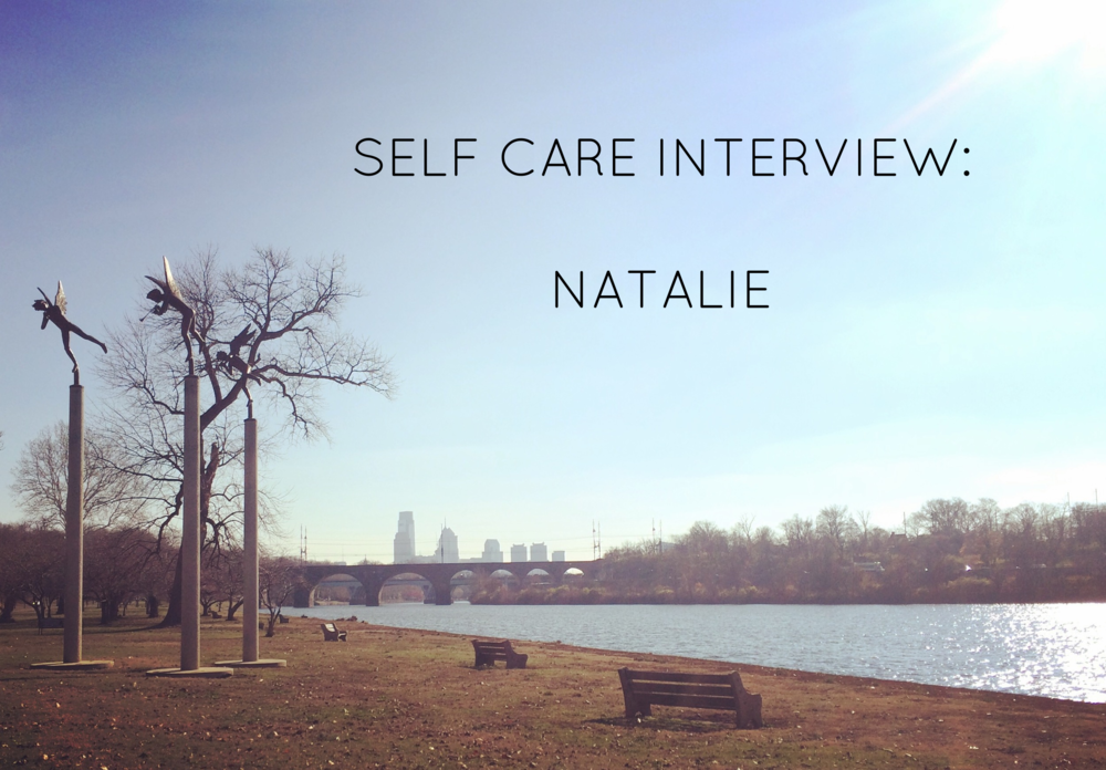 Natalie currently lives in Philly. Photo: Schuykill River- an important self care location for her-with the Philadelphia skyline in distance