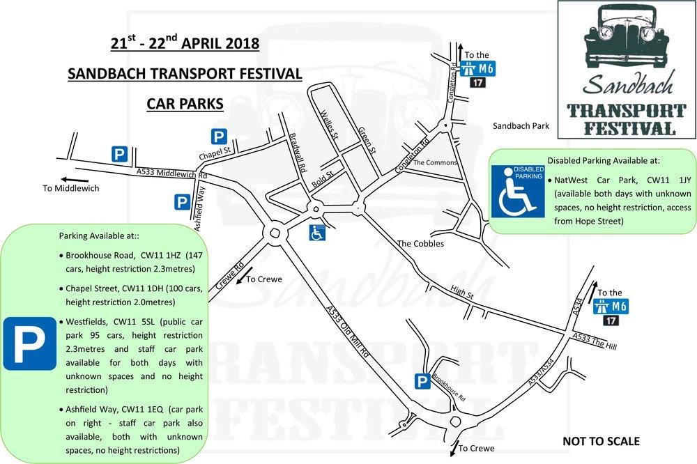 21-22 April 2018 Car Parks