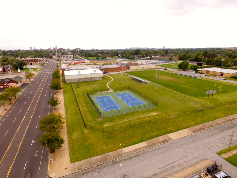 Sportsman's Park Today: Current site of the Herbert Hoover Boys & Girls Club. September 2016.