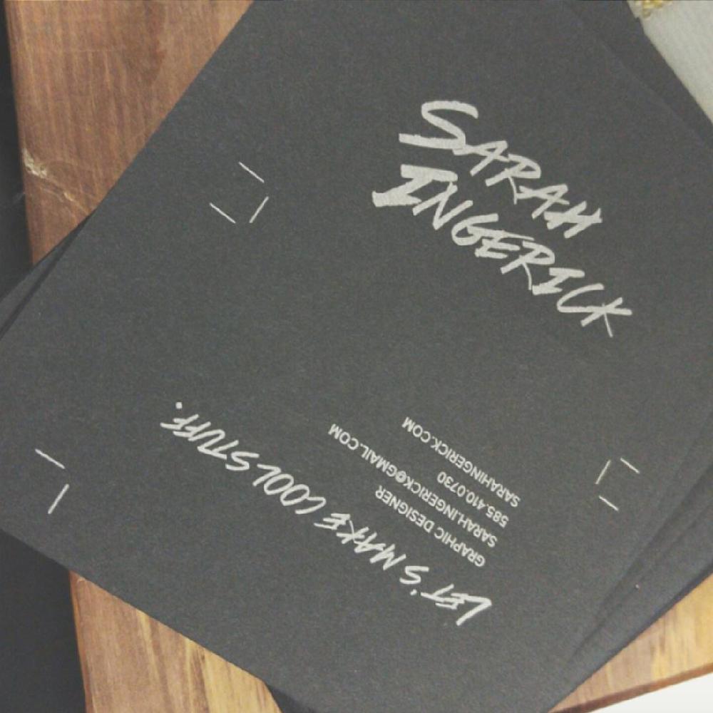 Digitally designed, manually printed letterpress business cards.