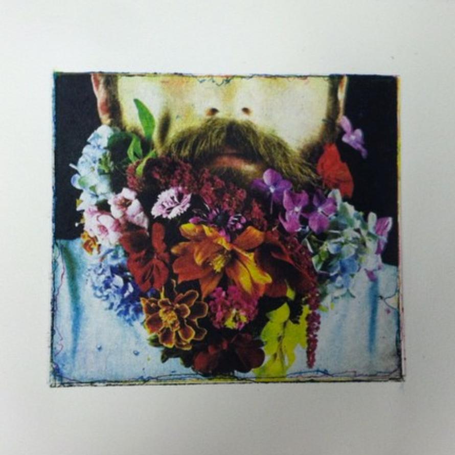 Four-color intaglio print.