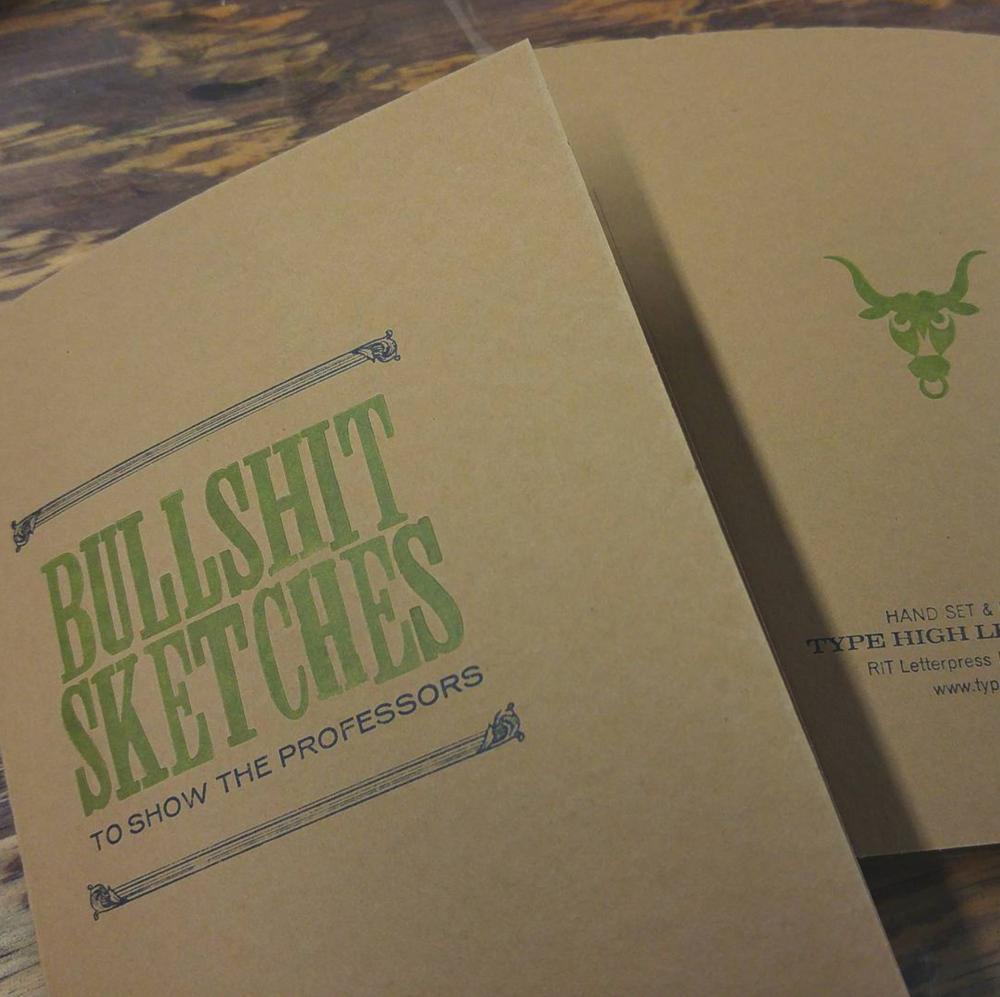 Letterpress printed notebooks.