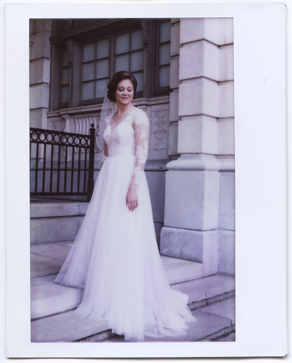 wedding bride instax