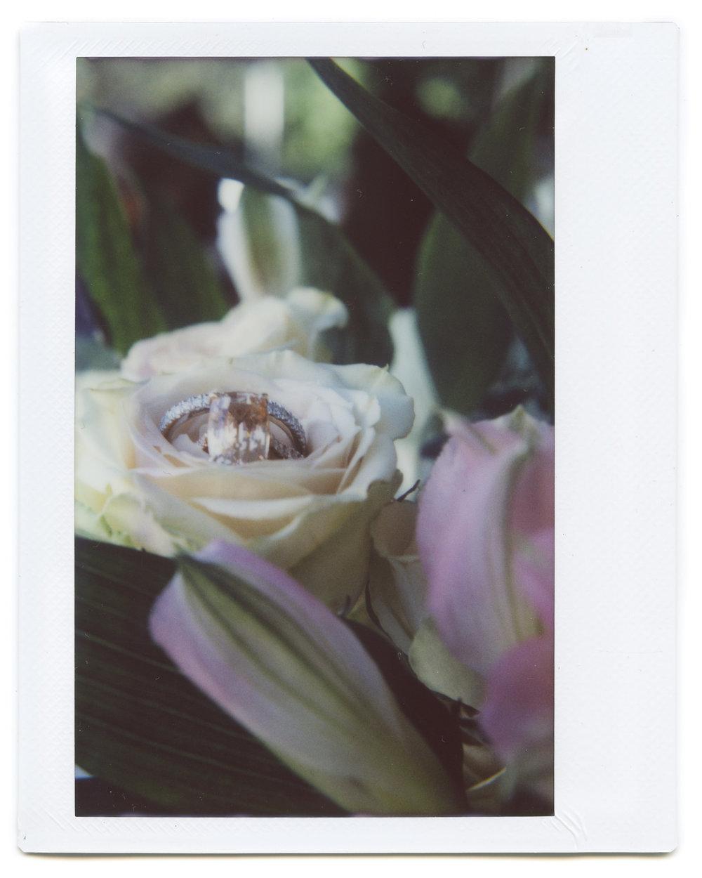 wedding ring instax