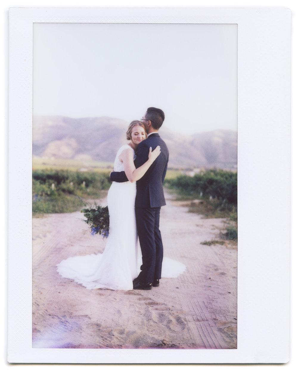 Wedding Instax portrait