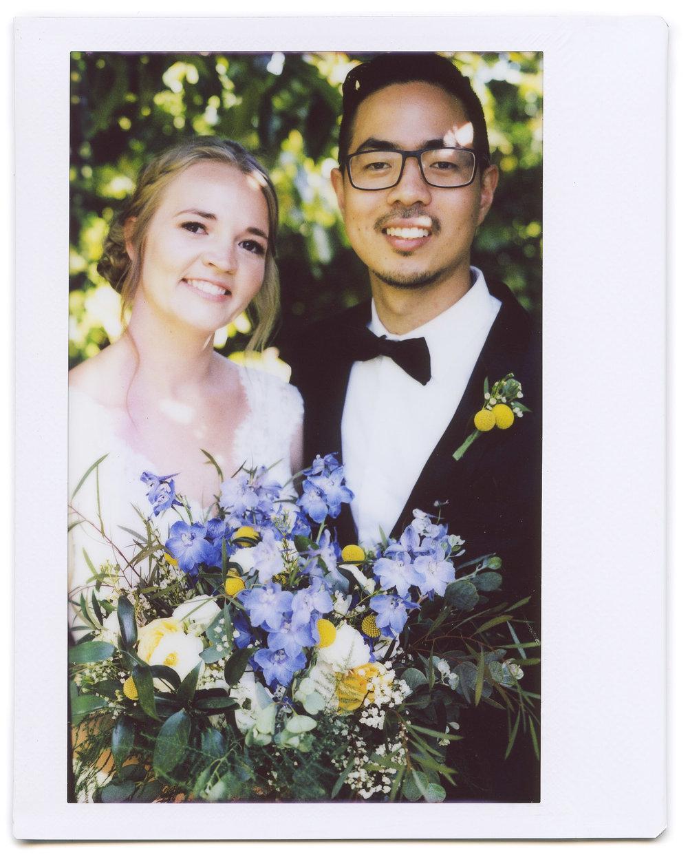 wedding polaroid instax bouquet