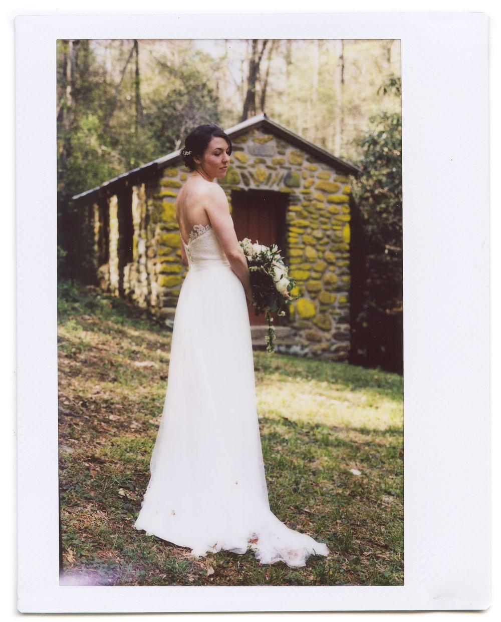 north carolina wedding instax polaroid