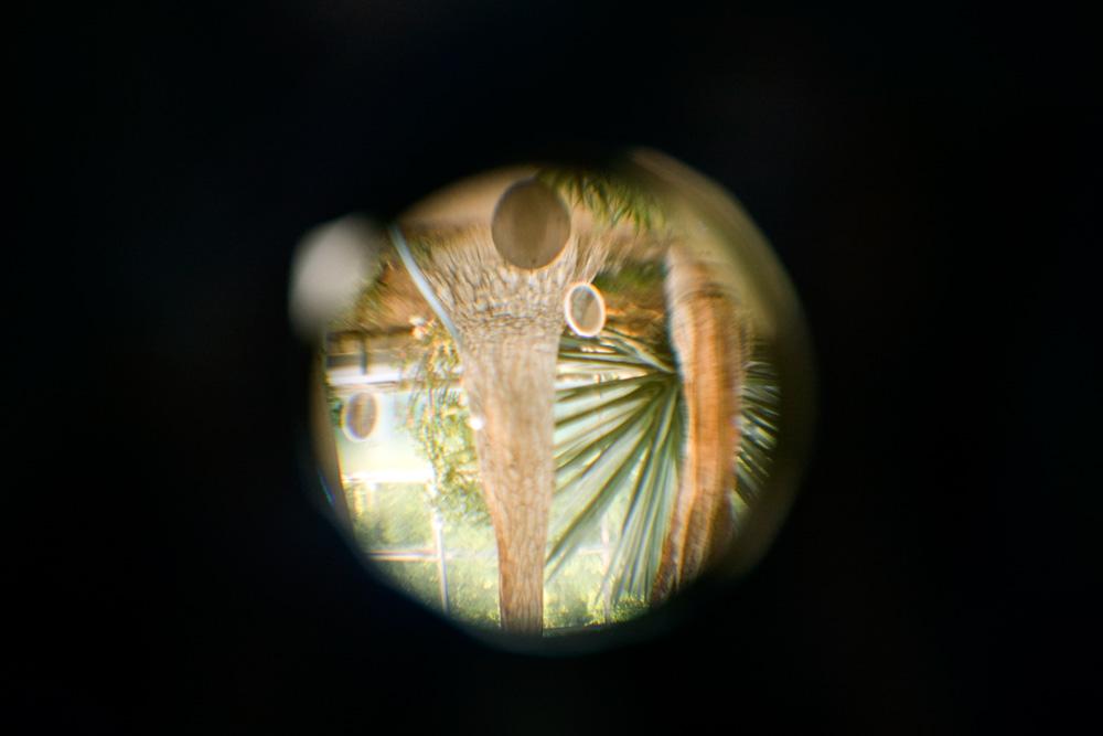 Fisheye peephole