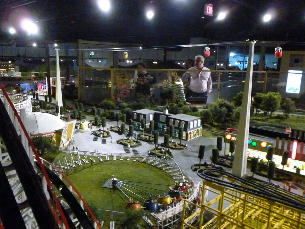 View from the backside of the Coney Island display at Entertrainment Junction.
