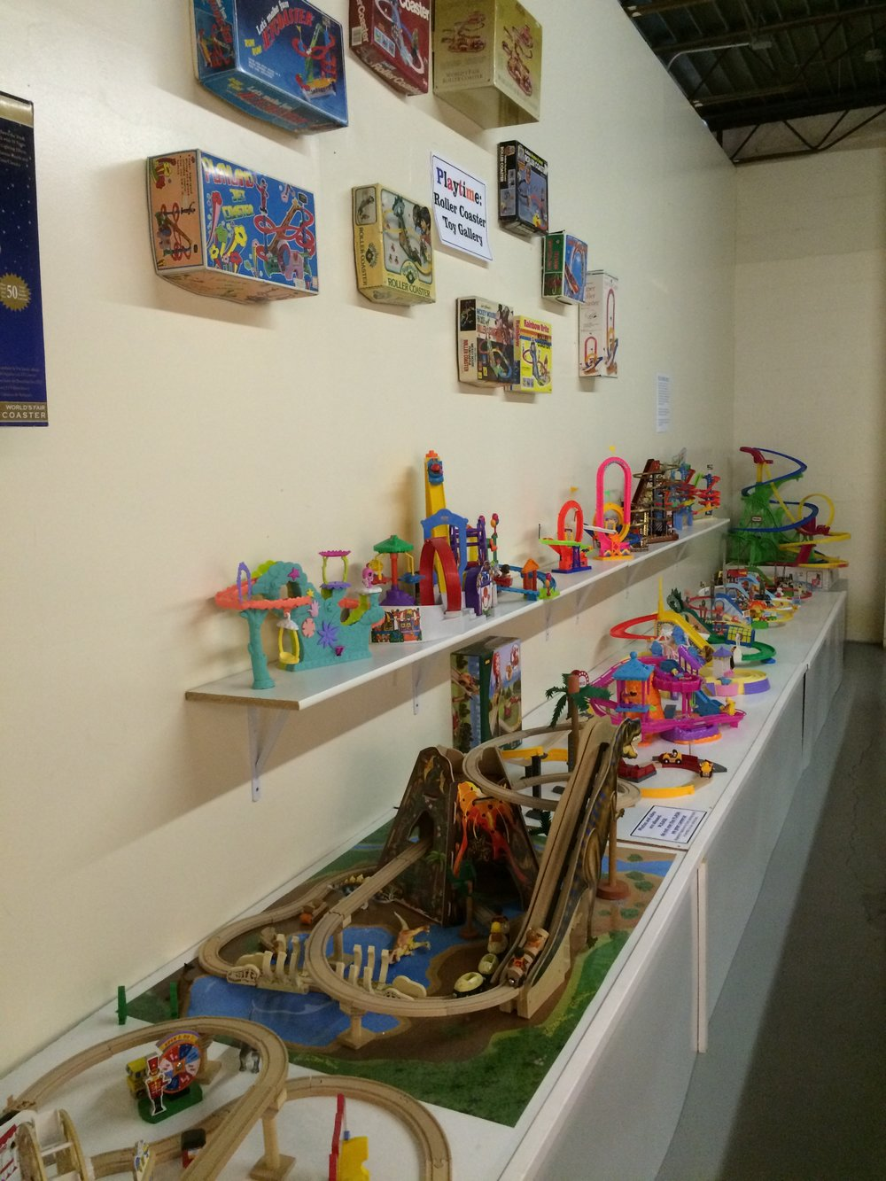 Exhibit: Playtime: Roller Coaster Toy Gallery - General View