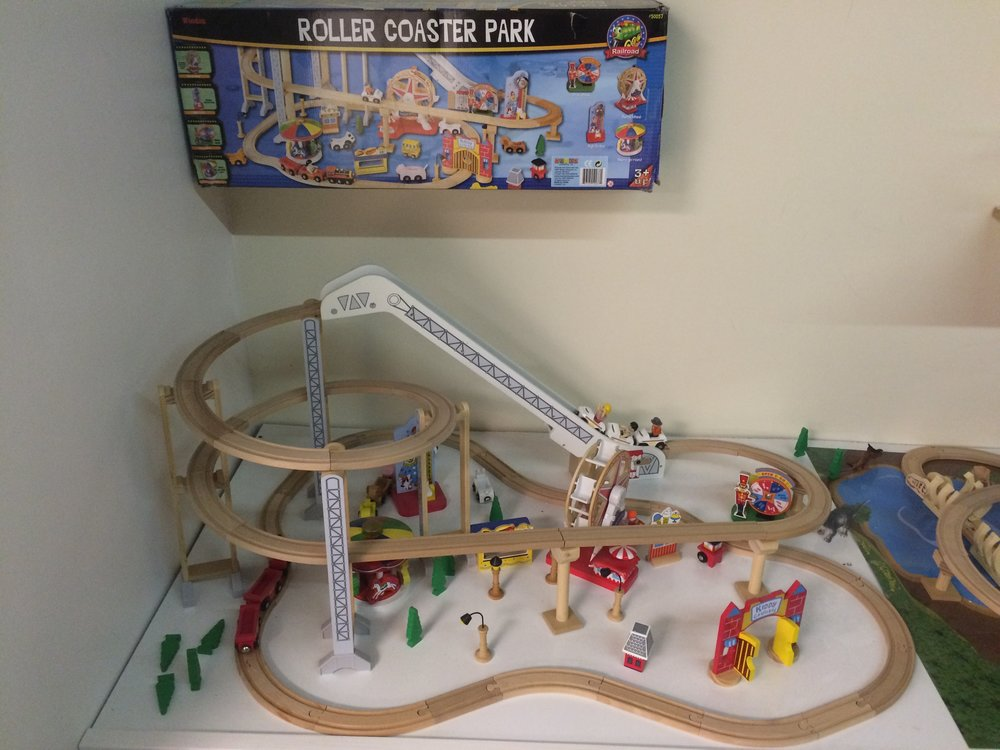 Exhibit: Playtime: Roller Coaster Toy Gallery - Roller Coaster Park wooden set