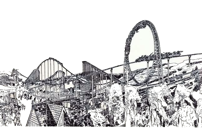 Exhibit - The Modern Looping Roller Coaster - Revolution (The making of a Legend)