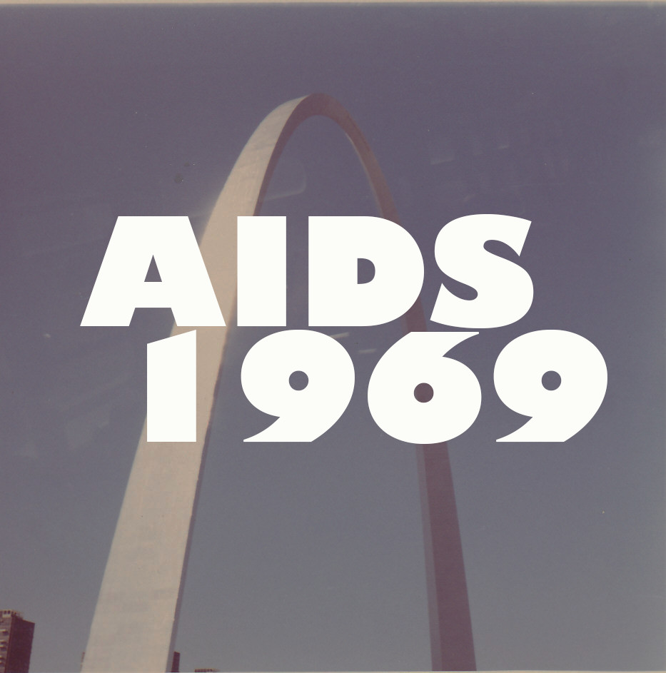 AIDS 1969, sticker, 2015