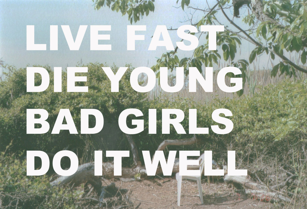 LIVE FAST, DIE YOUNG, postcard series (2010-ongoing)